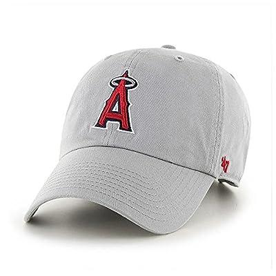 '47 Brand Los Angeles LA Angels Clean up Dad Hat Cap Grey