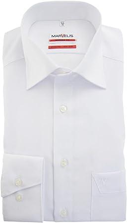 marvelis de camisa Modern de Fit (estrecho Interfaz) 4700Uni extra larga brazo 00-weiss 44 cm