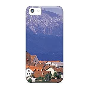 Fashion Tpu Case For Iphone 5c- Church In A Town In Slovenia Defender Case Cover