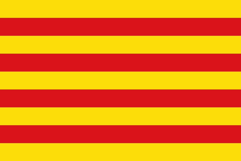 20x30cm Drapeau de Voiture Drapeau Paysage 0.06m/² DIPLOMAT-FLAGS Drapeau Catalogne