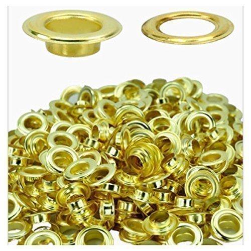 12mm Gold Eyelets & Washers - Pack of 100 Eyelets & Washers Trimming Shop