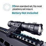 CISNO 1000 Lumens LED Tactical Flashlight Torch Pressure...