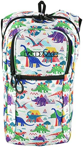 KANDYPACK Rave Hydration Pack Backpack with Water Bladder Dinosaur