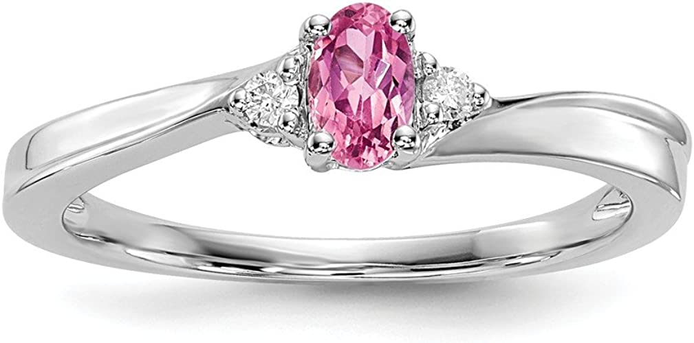 925 Sterling Silver Created Pink Tourmaline Birthstone Band Ring October Fine Jewelry For Women Gift Set
