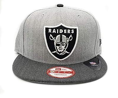 New Era Oakland Raiders Heather Action Adjustable Light Gray Snapback Hat
