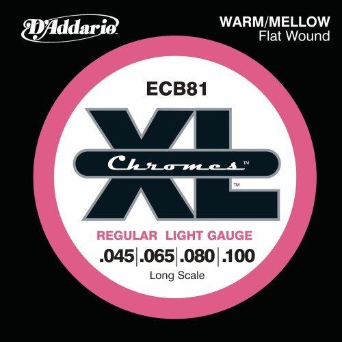 D'Addario ECB81 Chromes Bass Guitar Strings, Light, 45-100, Long Scale Chrome Standard Bass