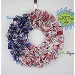 American-Flag-Rag-Wreath-Flag-Fabric-Wreath-July-4th-Wreath-Independence-Day-Wreath-Patriotic-Flag-Wreath-Memorial-Wreath-Fabric-Wreath