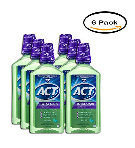 PACK OF 6 - ACT Total Care AntiCavity Fluride Fresh Mint ...