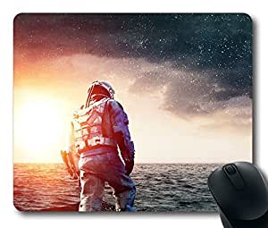 Custom Gaming Mouse Pad with Interstellar Wide Space Film Movie Art Non-Slip Neoprene Rubber Standard Size 9 Inch(220mm) X 7 Inch(180mm) X 1/8 Inch(3mm) Desktop Mousepad Laptop Mousepads Comfortable Computer Mouse Mat