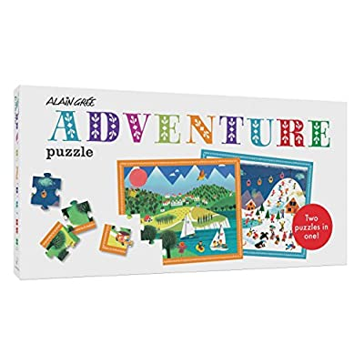 Alain Grée Adventure Puzzle: 20 Double-sided Puzzle Pieces (Easy Puzzle for Kids, Winter and Summer Puzzle, Puzzle with Big Pieces for Toddlers): Gree, Alain: Toys & Games