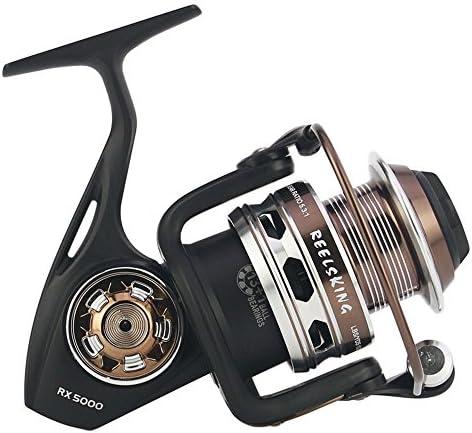 釣りスピニングリール 釣りリールライトスムースベースギアスピニングキャスティング左右右塩水淡水釣りリール (サイズ : 5000)
