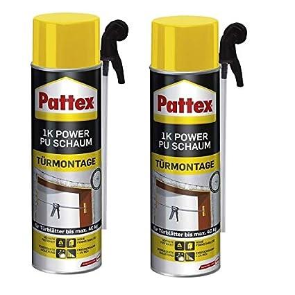 2 x Pattex 1 K Power de espuma de poliuretano de puertas y bastidor 500 ml
