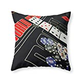 Society6 Poker Throw Pillow Indoor Cover (20'' x 20'') with pillow insert