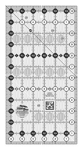 Creative Grids 6.5'' x 12.5'' Rectangle Quilting Ruler Template CGR612 by Creative Grids