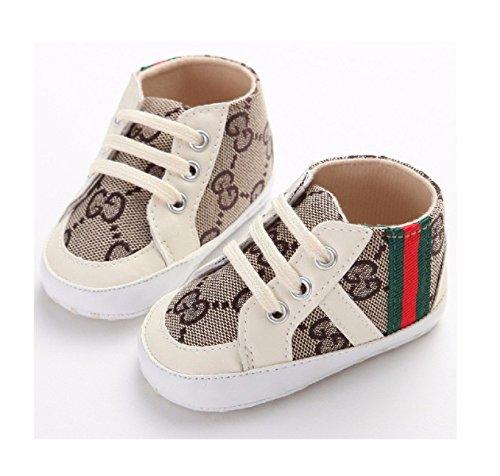 New Arrival Fashion Baby Girls Sneaker Shoes Kids Classic High Top Sports Soft Soled Footwear Infant Boys Prewalker Toddler Shoe (1, White) (Shoes Baby Girls Jordan)