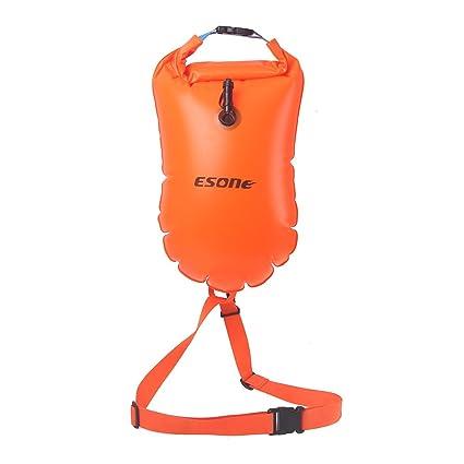 Boya de seguridad Esone, para natación con capacidad de 15 litros y bolsa
