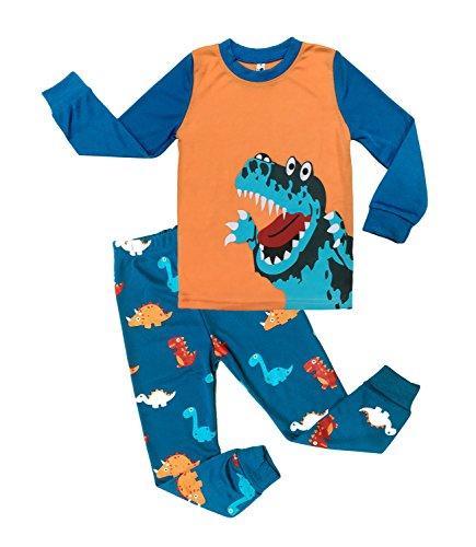 DDSOL Little Boys Pajamas Dinosaur Kids Pjs Sets Cotton Toddler Sleepwears 5T 5