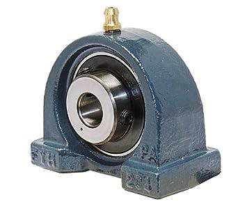 "FYH UCPA201-8 Pillow Block Mounted Bearing, 2 Bolt, 1/2"" Inside Diameter, Set screw Lock, Cast Iron, Inch"