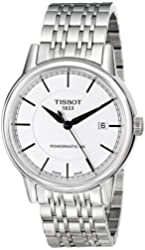 Tissot Men's T0854071101100 T Classic Powermatic Analog Display Swiss Automatic Silver Watch