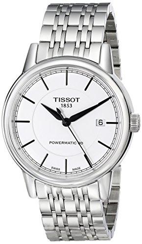Tissot Men's T0854071101100 T Classic Powermatic Analog Display Swiss Automatic Silver Watch