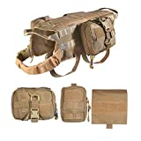 Feliscanis Tactical Dog Vest Training Molle Harness with 3...