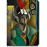 Artist: Jean MetzingerTitle: La Femme a l'eventail (Woman with Fan)Product type: Gallery-wrapped canvas artStyle: ContemporaryFormat: VerticalSize: Extra LargeSubject: ContemporaryMedium: PaintingImage dimensions: 30 inches high x 20 inches wide x 1....
