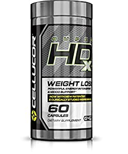 Cellucor SuperHD Xtreme Thermogenic Fat Burner, Powerful Energy & Mood Support, Weight Loss Supplement, 60 Capsules