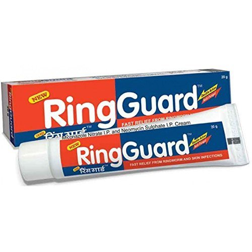 Ring Guard Ringworm Cream,Athlete Foot,Fungal-backterial Skin Infection,Eczema Ring Guard (Pack of 2) (Best Medicine For Ring Guard)
