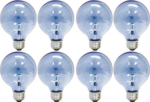 GE Lighting 75241 Reveal 25-Watt, 152-Lumen G16.5 Light Bulb with Medium Base, 8-Pack (Globe Reveal)