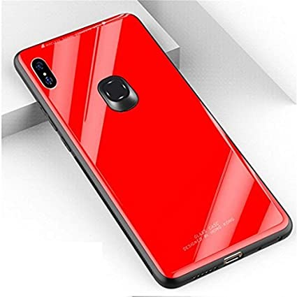 uk availability 44ccd af09f ERIT Shockproof TPU Toughened Glass Back Case for Xiaomi Redmi Note 5 Pro  (Red)