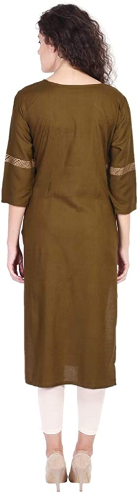 Vihaan Impex Indian Tunic Long Rayon Straight Women Dress Partywear Kurti for Women Kurta