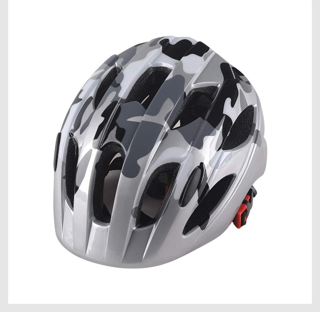 Bicycle Helmet for Kids (for 46-59cm Head Circumference Adjustable Ultra Light Weight High Breathable Bicycle Cycling Protective (Color : Pattern-09)