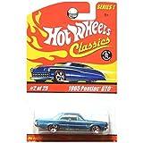 Hot Wheels Classics Series 1 1965 Pontiac GTO Redline Wheels Teal Blue Green