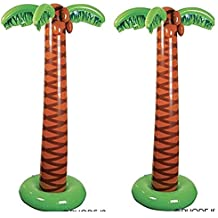 """JUMBO Inflatable PALM TREES - LUAU Party DECOR (66"""" Tall) TROPICAL Decorations - ISLAND Theme PARTIES"""