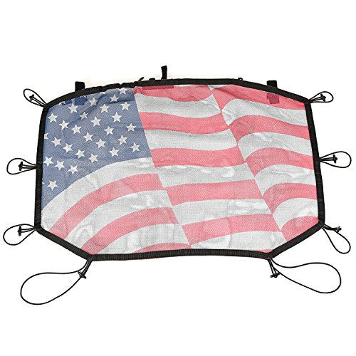 Rugged Ridge Front Eclipse American Flag Sun Shade for Jeep Wrangler JK