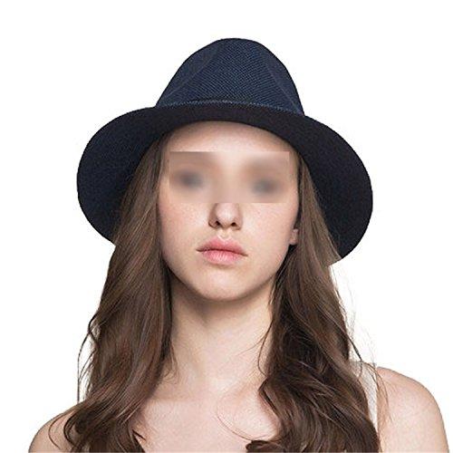 YHQ-K New Summer Hats for Women Jazz Cap Beach Sun Panama Hat with Band Sunhat Fashion Viseras Mujer Ala Ancha