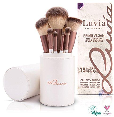 Luvia Cosmetics - Prime Vegan Pinselset - 16 tlg. Kosmetikpinsel Set - Inklusive Make Up Pinselhalter zur Aufbewahrung der Veganen Schminkpinsel - Geschenk Set / Geschenkidee für Frauen