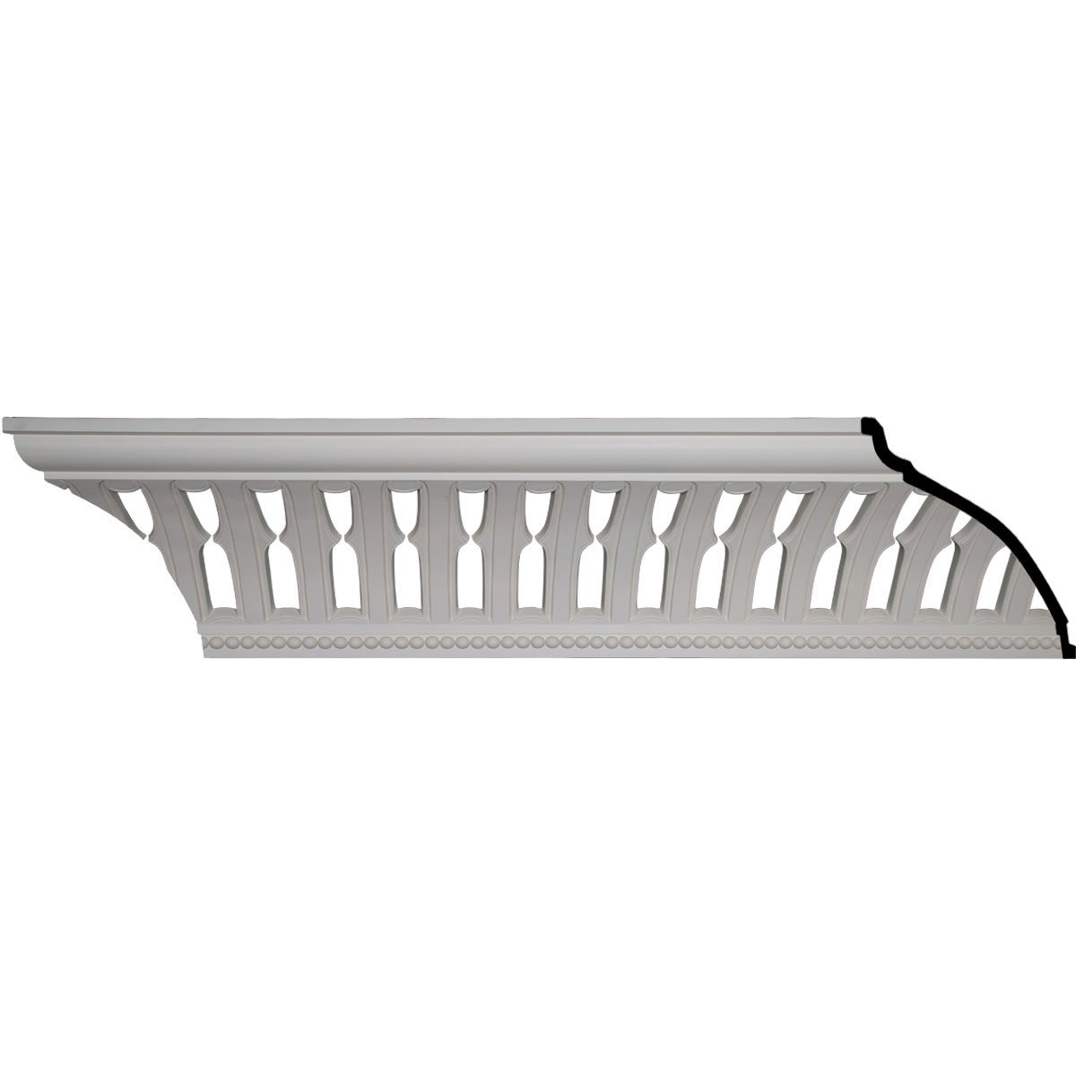 Ekena Millwork MLD15X13X20MB-CASE-2 15-1/2'' H x 13-3/8'' P x 20-5/8'' F x 96'' L Melbourne With Bead Crown Molding (2-Pack)