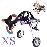 Apstour Dog Wheelchair Pet Hip Joint Care Wheelchair 10inch Wheel 2...