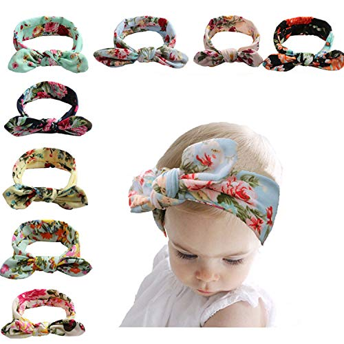 Baby Bohemian Headbands Turban Knotted Hairbands for Newborn