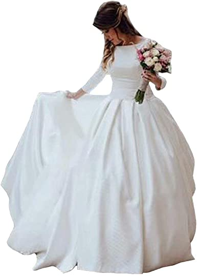 Dexinyuan Wedding Dress Wedding Gowns Satin Bridal Ball Gown Bridal Dress At Amazon Women S Clothing Store