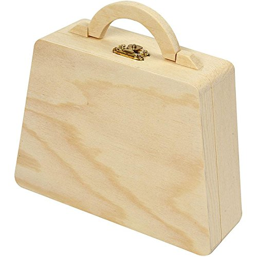Tasche, Größe 17,5x13x5,5 cm, Kiefernholz, 1 Stck.