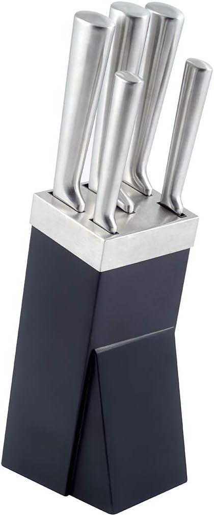 Braun//Silber Allzweckmesser Brotmesser /& Kochmesser Messer-Set 6-teilig Schinkenmesser Gem/üsemesser Gummibaum-Holz rostfrei /& poliert Kuppels STEEL Messerblock inkl Edelstahl