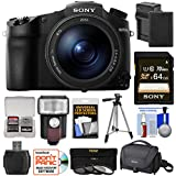 Sony Cyber-Shot DSC-RX10 III 4K Wi-Fi Digital Camera with 64GB Card + Battery & Charger + Case + Tripod + 3 Filters + Flash & LED Light + Kit