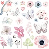 High-tech Technology Without Sewing! Kingko 27pcs/Set Butterfly Flower Patch T-shirt Dresses Coat Patches For Clothing 23*23cm A-level Heat Transfer DIY Accessory Decoration