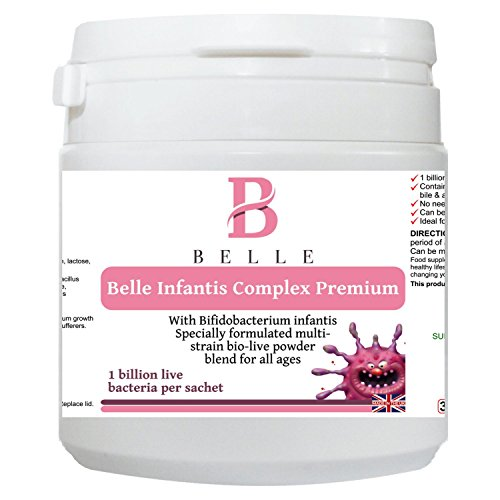 Belle® Infantis Complex Premium - children probiotic Powder - contains 7 strains of naturally-occurring beneficial bacteria Including Bifidobacterium infantis strain - all ages- 30 sachets - Bifidobacterium Infantis Powder