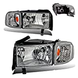 SPPC Crystal Headlights Chrome With Corner Light For Dodge Ram - (Pair)