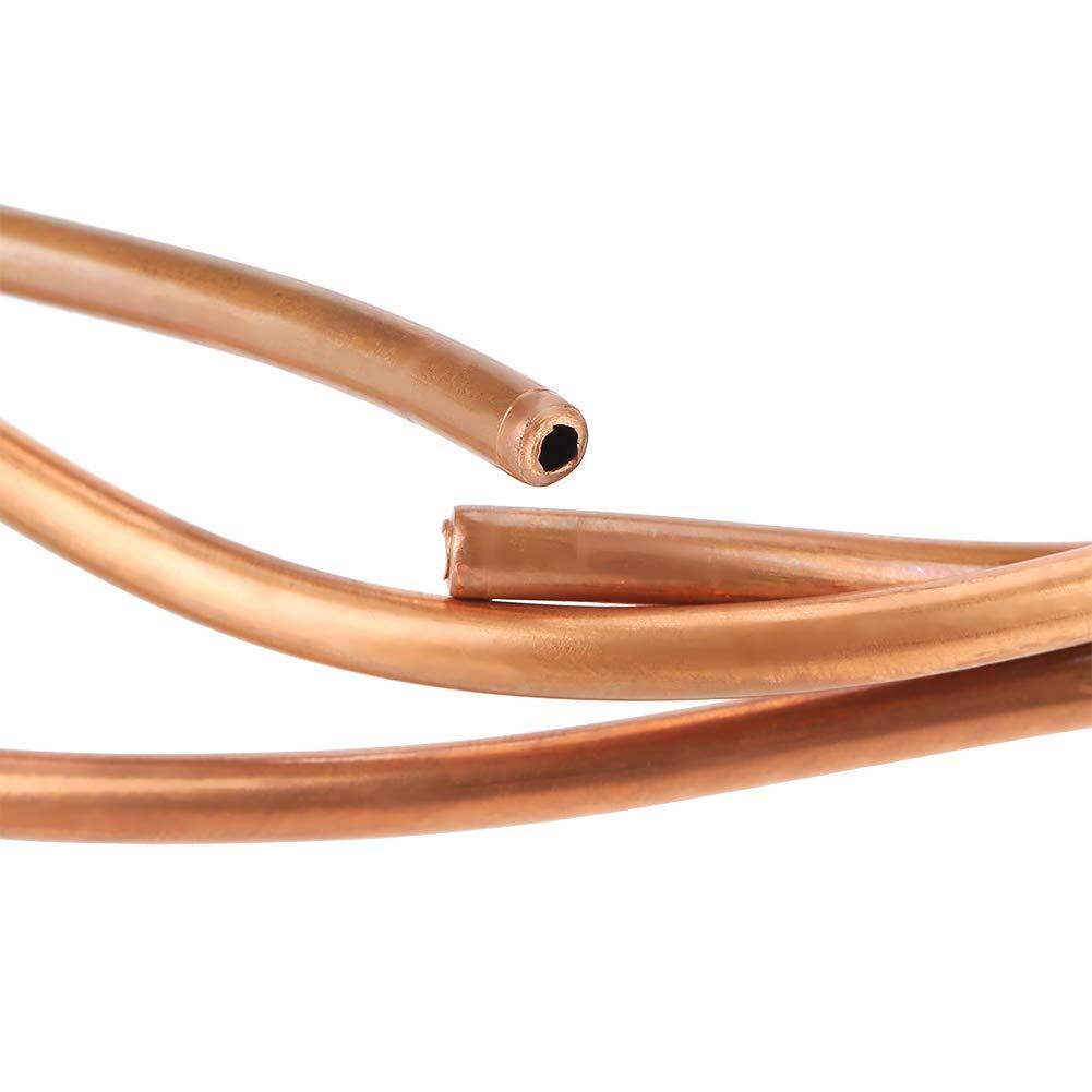 Tubo di rame da 2 m T2 Tubo di rame morbido ID tubo tubo 4 mm OD 5 mm Spessore 0,5 mm per apparecchiature elettriche di refrigerazione