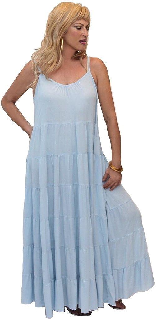 LOTUSTRADERS Plus Fashion Dress Smocked Back Bodice Spaghetti Straps T880