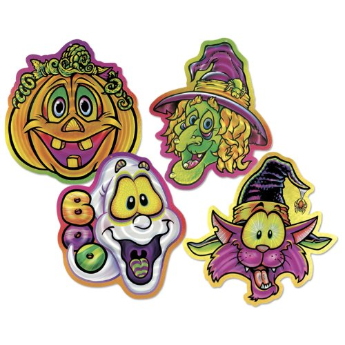 Halloween Pals Lazer Etched Wall-Plaques Party Accessory (1 count) (4/Pkg)